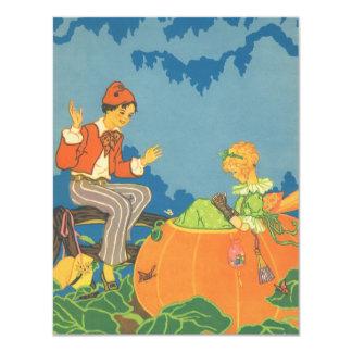 Vintager Kinderzimmer-Reim, Kürbis-Esser Peter 10,8 X 14 Cm Einladungskarte
