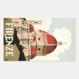 Vintager KircheDuomo Reise-Florenz Firenze Italien Rechteckiger Aufkleber