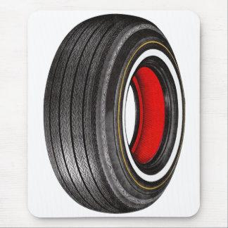Vintager Kitsch-Anzeige-Reifen-Reifen Whitewall Mauspads