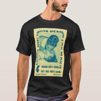 Vintager Kitsch CPR-Mund Mouth tschechischen T-Shirt