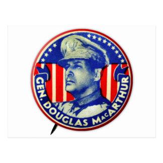 Vintager Kitsch-General Douglas MacArthur Button Postkarte