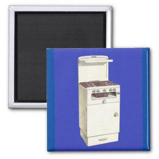 Vintager Kitsch-Gerätegasbrenner-Ofen-Ofen Quadratischer Magnet