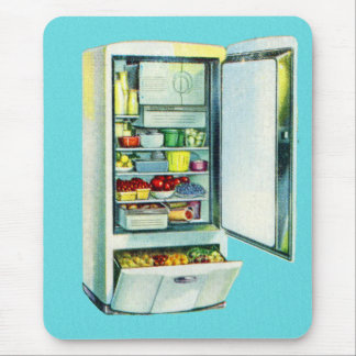 Vintager Kitsch-Kühlschrank-Kühlschrank Mauspads