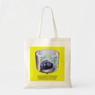 Vintager Kitsch-Wäscherei-Waschmaschine-Quirl Budget Stoffbeutel