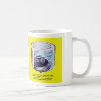 Vintager Kitsch-Wäscherei-Waschmaschine-Quirl Kaffeetasse
