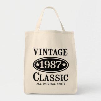 Vintager Klassiker 1987 Einkaufstasche