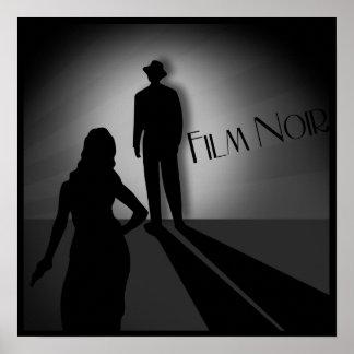 Vintager klassischer Film noir Plakat