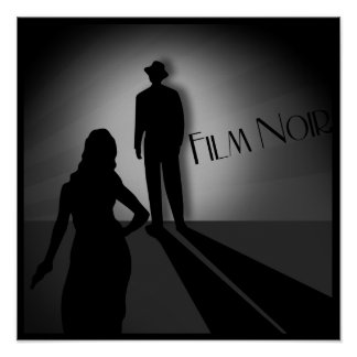 Vintager klassischer Film noir Poster