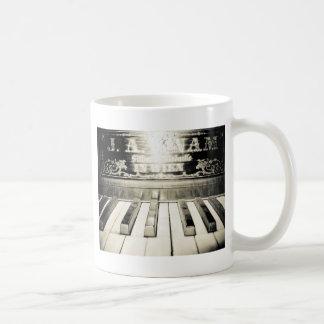 Vintager Klavier-Druck Kaffeetasse