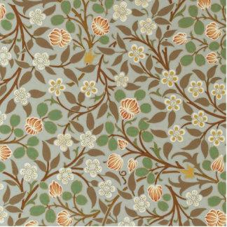 Vintager Klee-Blumenentwurf Williams Morris Photostatuen