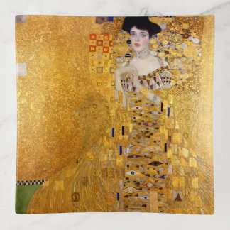 Vintager Klimt goldener Kunst-Druck Dekoschale
