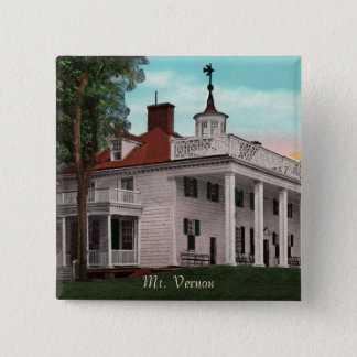 Vintager Knopf des Mount Vernon Quadratischer Button 5,1 Cm