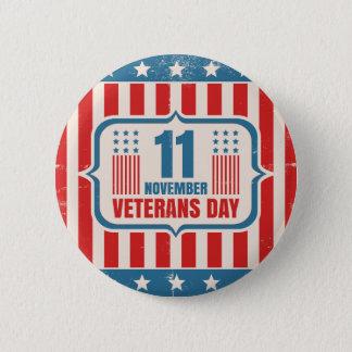 Vintager Knopf für Veteranentag mit amerikanischer Runder Button 5,7 Cm