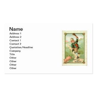 Vintager Kobold-Schweinshillelagh-St Patrick Tag Visitenkarten