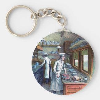 Vintager Koch Keychain Standard Runder Schlüsselanhänger