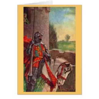 Vintager - König Arthur - Sir Lancelot und Elaine Grußkarte