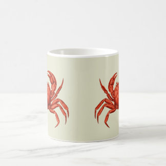 Vintager Krabben-Entwurf Kaffeetasse