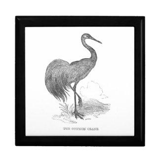 Vintager Kran-Vogel-Federzeichnen Geschenkbox