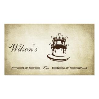 Vintager Kuchen u. Bäckerei des eleganten Chic Visitenkarten Vorlage