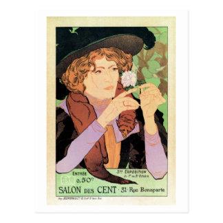 Vintager Kunst Ausstellungs-Salon-DES-Cent Postkarte