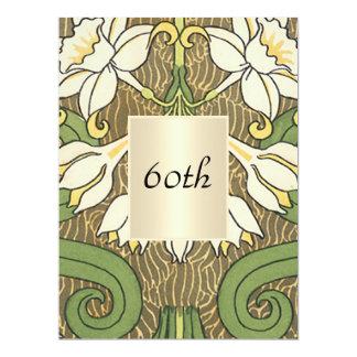 Vintager Kunst-Deko-Blumengeburtstags-Party 16,5 X 22,2 Cm Einladungskarte