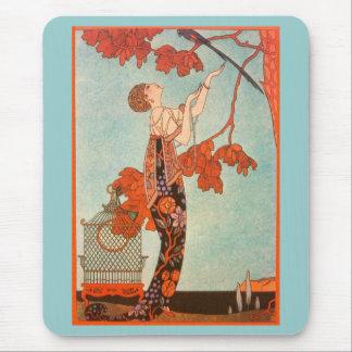 Vintager Kunst-Deko, Flighty Vogel durch George Mauspad
