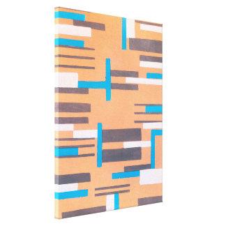 Vintager Kunst-Deko-Jazz Pochoir, geometrisches Leinwanddruck