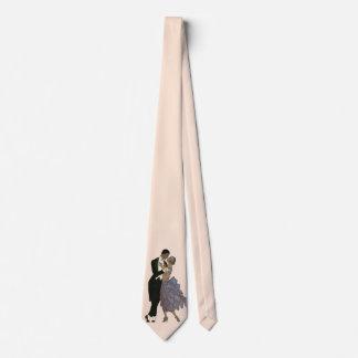 Vintager Kunst-Deko-Jungvermählten-, Braut-und Krawatte