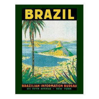Vintager Küstenstrand Reise-Rio de Janeiro Postkarte