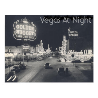 Vintager Las- Vegasstreifen Postkarten