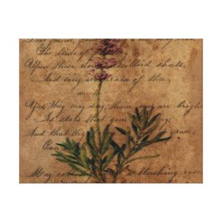 Vintager Lavendel Leinwanddruck