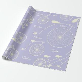 Vintager Lavendel-Tag im Park-Fahrrad Geschenkpapier