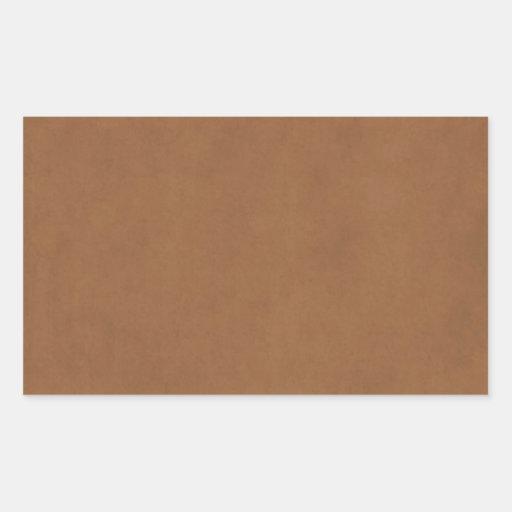 Vintager lederner Brown-Pergamentpapier-Hintergrun Rechteckige Aufkleber