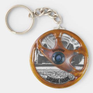 Vintager Lenkrad-Garagen-Inhaber Keychain Schlüsselanhänger