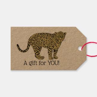 Vintager Leopardcheetah-gepunktetes Geschenkanhänger
