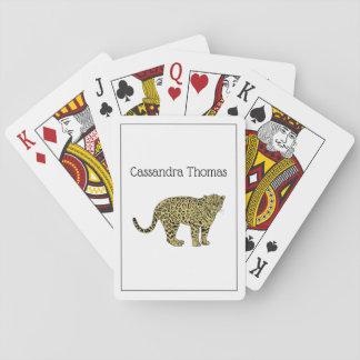 Vintager Leopardcheetah-gepunktetes Spielkarten