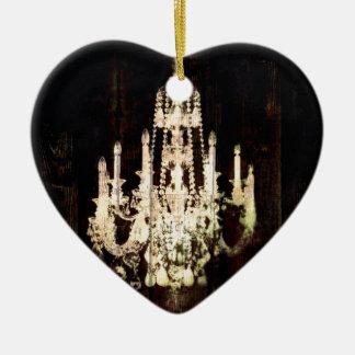 Vintager Leuchter rustikale Scheunen-hölzerner Keramik Herz-Ornament