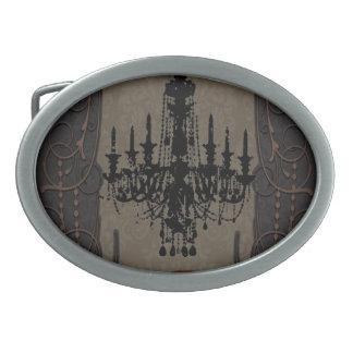 Vintager Leuchter steampunk goth Ovale Gürtelschnalle