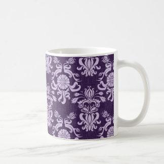 Vintager lila Damast (5) Kaffeetasse