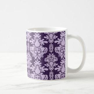Vintager lila Damast 7 Kaffeehaferl