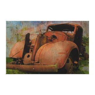 Vintager LKW Leinwanddruck