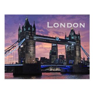 Vintager London-Reise-Tourismus Postkarte