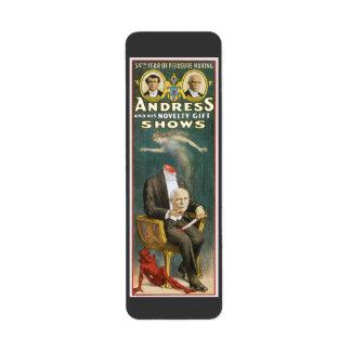 Vintager Magier, Andress Plakat