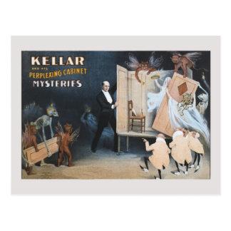 Vintager magischer Trick: verdutzendes Kabinett Postkarte