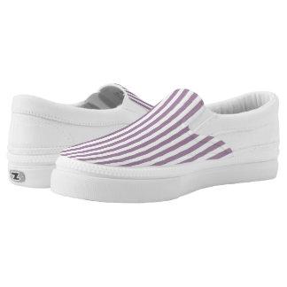 Vintager malvenfarbener Ombre Streifen Slip-On Sneaker