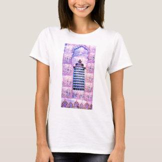 Vintager Marokko-Fenster-Rosa Oranate Boho Chic T-Shirt