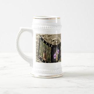 Vintager Meerkat Foto-Streifen, Bierglas