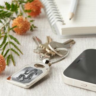 Vintager Metalldrache Schlüsselanhänger