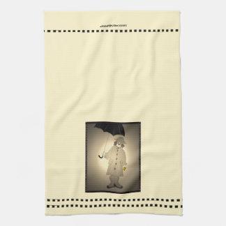 Vintager Metro-Regen-Beagle Handtuch
