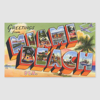 Vintager Miami- Beachaufkleber